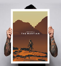 The Martian Minimal Movie Poster Print Ridley Scott Film Matt Damon 180gm A1-3