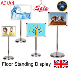 A3 / A4 FLOOR STANDING MENU POSTER DISPLAY HOLDER SNAP FRAME RESTAURANT STAND UK