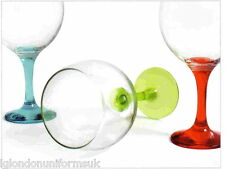Large stemmed cup gin and tonic or wine balloon glass 65cl, COLOR foot set 2,4,6