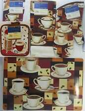 KITCHEN COFFEE BEANS THEME LINEN & PLACEMAT 7 PC SET, SELECT: Items