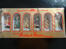 Porcelain Antique Santa Collectables Around The World Set A International 1990