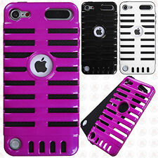 For iPod Touch 5th 6th Gen Rubber Hybrid SKELETON Hard Silicone Phone Case Cover