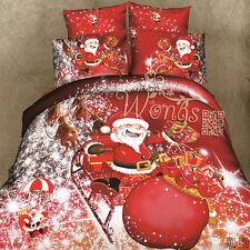 100%Cotton Christmas Man Single/Double/King Duvet Doona Quilt Cover Set Bed New