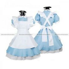 Alice in Wonderland Cosplay Girl Lolita French Maid Costume Sexy Dress Blue