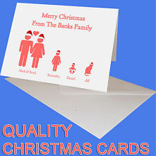 PERSONALISED CHRISTMAS CARDS WITH