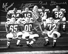 Jim Otto Fred Williamson Art Powell +1 Signed 1963 AFL Raiders Stars 8x10 Photo