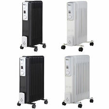 5/7/9 Fin Oil Filled Portable Electric Radiator Heater Adjustable Thermostat New