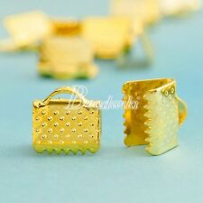 20g Iron Ribbon Necklace Cord Tips Clip Clamp Bead Ends 8x8x6mm Free Shipping
