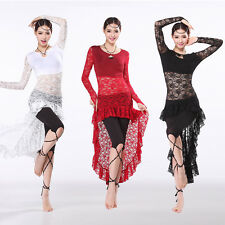 The BEST Belly Dance Costume One-Piece Dress Lace Long Sleeves Long Skirt