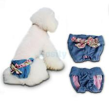 Female Pet Dog Bowknot Diaper Bitch in Season Pant Sanitary Underwear Size S/M/L