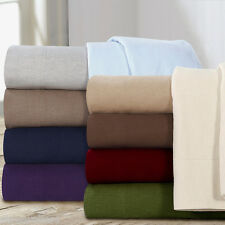 Standard Flannel Pillowcases 5 oz  Ultra Soft for Sheet Set Sheets 100% Cotton