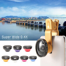 Universal 140° Clip HD 0.4X Super Wide Angle Selfie Cam Lens For Mobile  Phone