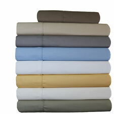 Wrinkle-Free 650 Thread Count Solid 100%Cotton Twin-Size Multi-Colors Sheet Sets