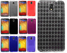 For Samsung Galaxy Note 3 TPU CANDY Gel Flexi Skin Case Cover +Screen Protector