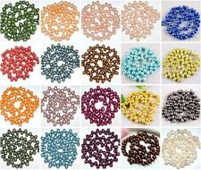 6-7mm Cultured Rice Oval Fresh Water Pearl Top Drilled Loose Freeform DIY Beads