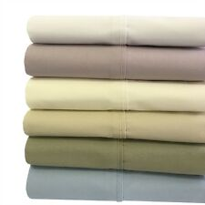 King-Size 100% Cotton 4PC Sheets, Super Soft 300 Thread Count Percale Sheet Set