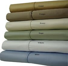 (King-Size) 100% Cotton Thick & Heavy 1000 Thread Count 4-PC Solid Sheet Sets