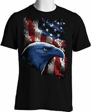 American Flag Eagle T Shirt Patriotic Stars Stripes Oversize Small to 6XL Tall