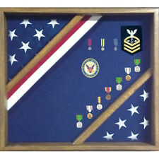 Patriotic Red White And Blue Flag Display Case Hand Made By Veterans