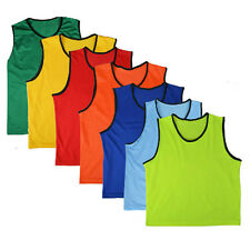Senior Sports Soccer Football Rugby Training Bibs Vests Mesh One Size BRAND NEW