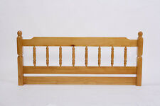 Solid Honey Pine Colonial Spindle Headboard (Various sizes available)