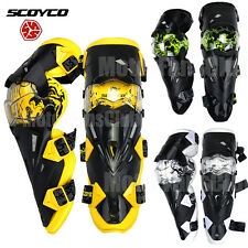 SCOYCO Motorcycle ATV Racing Motocross Knee Pads Protective Guards Armor Gear