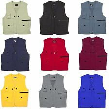 Mens Sleeveless Utility Multi Pocket Zip Hunting Fishing Premium Outdoor Vest