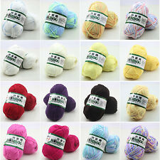 50g Super Soft Natural Smooth Bamboo Cotton Knitting Cole Yarn Ball New
