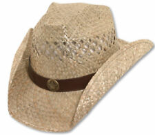 Brett Michaels Western Straw Cowboy Hat with Star Concho ROCK STAR NWT