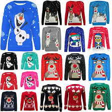 NEW CHILDRENS KIDS GIRLS BOYS CHRISTMAS XMAS RETRO WINTER JUMPER SWEATER SIZE