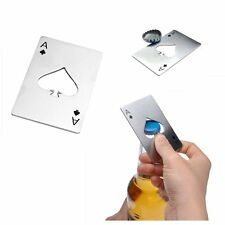 Poker Ace of Spades Casino Stainless Steel Credit Card Size  Bottle Opener