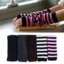 Women Warmer Mitten Winter Long Knitted Wrist Arm Hand Warmer Fingerless Gloves