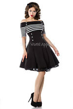 Bardot Striped Black and White Fit and Flare Vintage Style Retro Dress