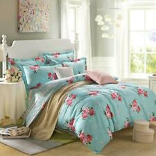 Peony Duvet Doona Quilt Cover Set Queen/King Size Floral Bed Flat Sheet Set New