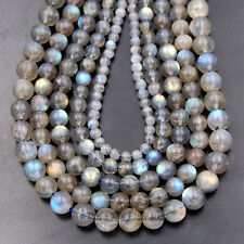 4mm 5mm 6mm 7mm 8mm AAA Grade Natural Labradorite Gemstone Round Beads 15.5""