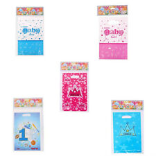 6pcs Pink/Blue Birthday Baby Shower Party Plastic Gift Loot Bags Candy Lolly Bag