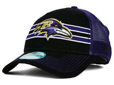 Baltimore Ravens NFL Frontband Trucker New Era 9Forty Snapback Stripe Hat Cap MD