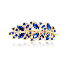 Boutique Women Hair Clip Leaf Crystal Rhinestone Barrette Hairpin Headband Band