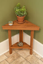 Teak Shower Triangle Bench Made in the USA Certified Plantation Inddor/Outdoor