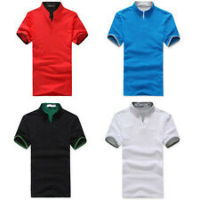6 Colors Men Lapel POLO Casual Shirt Short Sleeve Tee T-shirt T Shirt Size M-3XL