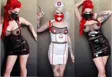 Lip Service High Waisted Nurse Skirt Cyber Gothic Industrial Rave Fetish Costume