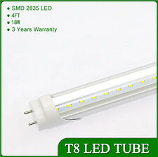 100pc18W 4ft Cool White 110V T8 LED Bulb Tube Light Fluorescent Replacement Lamp