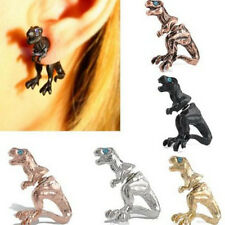 Women Gothic Punk Rock Temptation Dinosaur Dragon Ear Cuff Wrap Clip Earring c