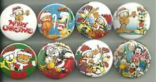 Garfield Christmas 1.5 inch Pins / Buttons or Magnets