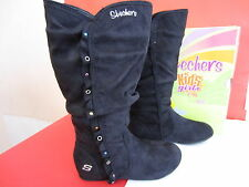 Skechers Girls  Boots (87998L) Black Suede Sizes UK J10  x  2 (KR)