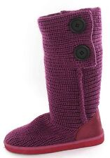 *SALE* Girls Dusty Pink Knitted Textile Pull On Winter Boots. Spot On H4021