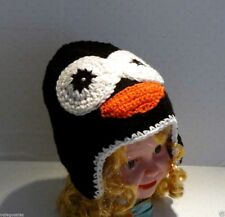Handmade Knitting Baby Infant Toddler Child ~ PENGUIN HAT Beanie 0 - 12 mo #079
