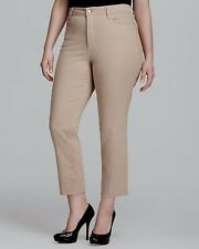 New NYDJ Not Your Daughters Jeans pants Audrey Ankle Ecru beige khaki chino 18