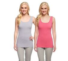 KATHLEEN KIRKWOOD S/2 Finer Liner Seamed Tanks A253645 - Longer Length!