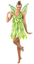 New Womens Disney Tinkerbell Fairy Ladies Fancy Dress Party Costume